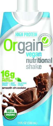 Orgain Vegan Chocolate or Vanilla Nutritional Shake