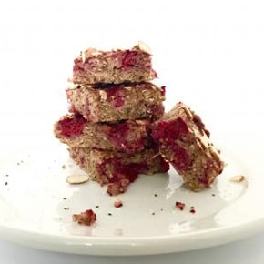 Raspberry Quinoa-Hemp Breakfast Bars